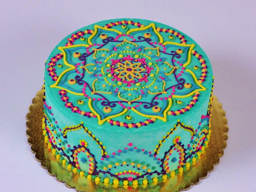 Buttercream Mandala Cake Cakecentral Com