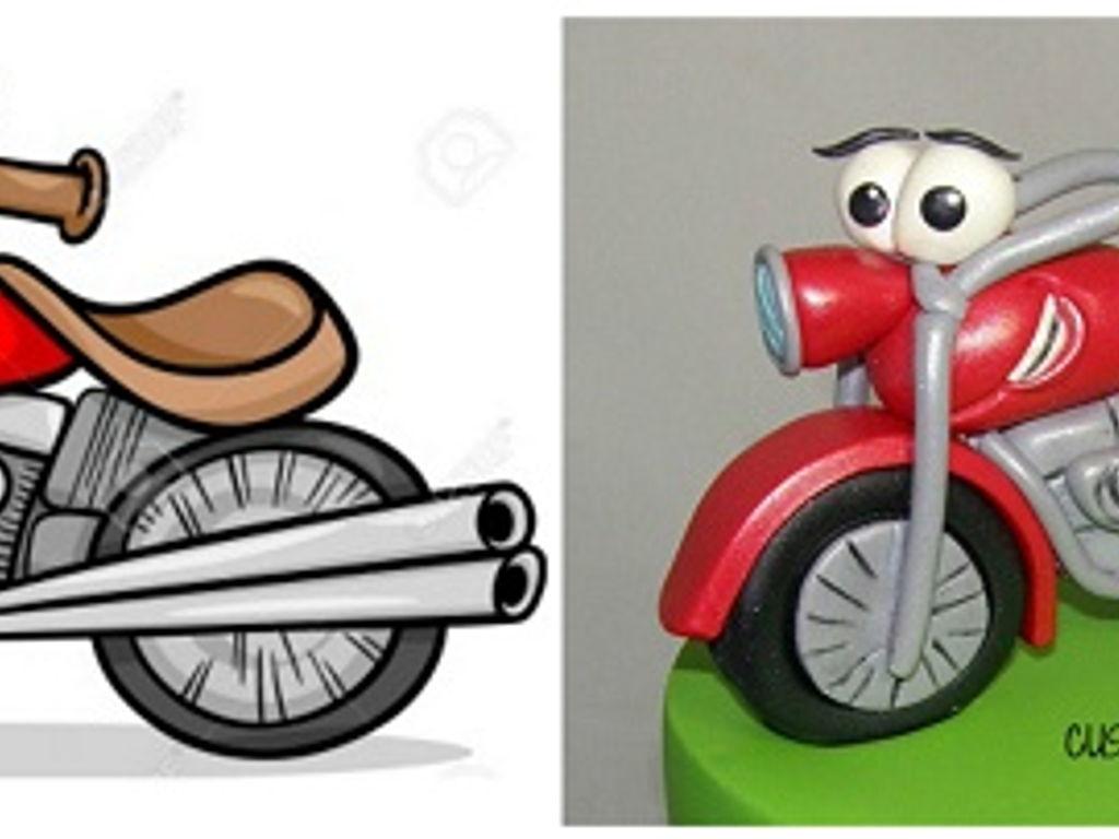 Cartoon Motorbike 1st Birthday Cake Cakecentral