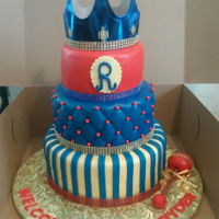 "3 Tier Royal Prince Baby Shower Cake  3 Tier Royal Prince Baby Shower Cake6"" Top Tier: Strawberry Cake8"" Middle Tier: Caramel Cake10"" Bottom Tier: Butter Pecan..."