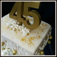 45 Years Old Cake Sugarpaste cake