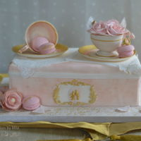 "A Sweet Wedding Proposal  My contribution to A sugar Artists Tea Party"" A sweet wedding proposal""In Ladurée style. A beautiful gift for the..."