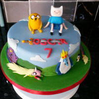Adventure Time!   Adventure Time cake for my son's birthday