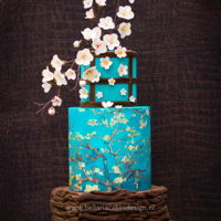 Almond Blossom My cake for The Absinthe Ritual Collaboration- A Dutch Sugar Artist Tribute to Van Gogh 125 years of inspiration. When I visited the Van...
