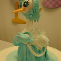 Baby Shower Stork Cake Hand made Grandma stork with infant.