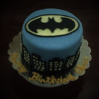 Batman Birthday Cake Amaretto-Kahlua Chocolate Cake with chocolate buttercream covered in fondant. This cake design was inspired by a cake by Rose Atwater of...