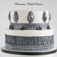 Black, White And Silver... What Else? made a cake for my sister and brother in law
