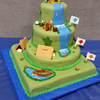 Blue And Gold Ceremony Cake Cubs scouts journey to boy scouts