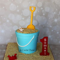 Bucket And Spade Cake Bucket and spade cake. With a carved bucket shape, fondant decorations and shortbread biscuit 'sand', everything is edible.