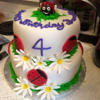 Buggy Buggies   Ladybug themed cake for a little girl who turned 4