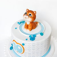 Cake With Kitten cake for girl with her favorite pet