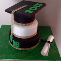 Cap And Diploma Graduation cake