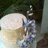 Dendrobium Orchid Spray A cake I made for my aunt's birthday :)