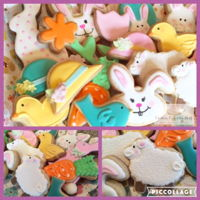 Easter Cookies Sugar and chocolate sugar cookies decorated with royal icing