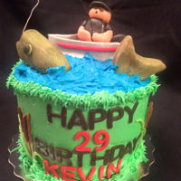 Fishing A fishing themed cake for a clients boyfriend who is obsessed with fishing.