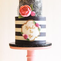 Flirty Little Bridal Cake A different look on a bridal shower cake. I had the opportunity to make a cake for a friend hosting a bridal shower. I was given control...