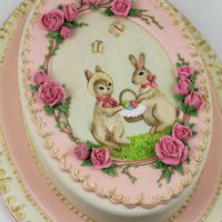French Vintage Easter Cake   Icing and pattern