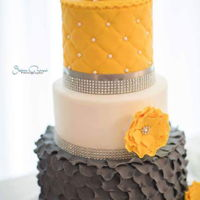 Grey And Yellow Wedding Cake Grey and yellow wedding cake
