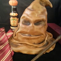 Harry Potter Sorting Hat Cake Sorting Hat cake. Marshmallow fondant covering almond butter cake with raspberry filling.