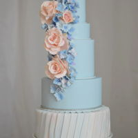 Hydrangea And Roses Wedding Cake I created this cake for Satin Ice to show at the Atlantic Bakery Expo. I love spring, it is one of my favorite times of the year, so I...