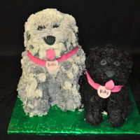 Man's Best Friend   Customer wanted her dogs made into cake. All work done in buttercream.