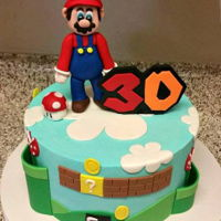 Mario Cake Mario Themed 30th Birthday Cake
