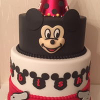 Mickey Mouse Cake   Mickey mouse birthday cake