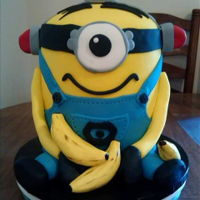 Minion Cake Minion birthday cake, 8 inch round (5-6 layers stacked)