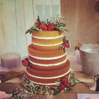 Naked Wedding Cake The bride wanted a rustic, shabby chic wedding. She had fallen in love with the naked wedding cakes. She was so insistent I decided I would...
