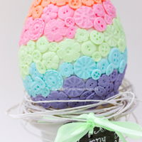 Pastel Buttons Easter Egg Cake Happy Easter