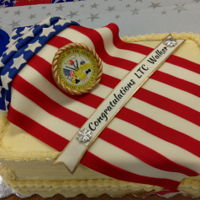 Patriotic Promotion Cake Made this for a co-workers Army Promotion to Lt Colonel.