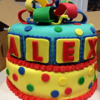 Primary Colors Cake All fondant cake.