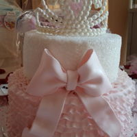 Princess Baby Shower   Ruffle and Tiara baby shower cake