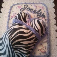 Purple Zebra Belly Purple belly cake