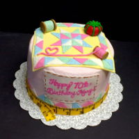 Quilting Themed Cake Made this cake for a lady who loves to quilt.