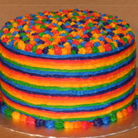 Rainbow Lbgt Cake Cake made for an LGBT couple