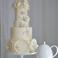 Rambling Roses- A Sugar Artists Tea Party I created this cake for a sugar artists tea party cake collaboration. The cake is inspired by the Wedgwood Rambling Roses design tea set. I...