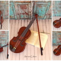 Realistic Violin Cake Realistic Violin Cake... Watch the video...