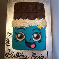 Shopkins   chocolate bar shopkins cake
