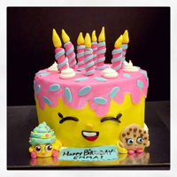 Shopkins Cake   Shopkins cake I made for a little girl's 8th birthday