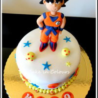 Son Goku All decorations are made of gumpaste.