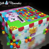 "Sugar Crush Cake My cake was inspired in the famous game ""Candy Crush"", each side represents an background of a level and the top is the game,..."