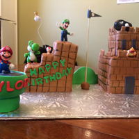 Super Mario   Super Mario cake castle for my sons 9th birthday