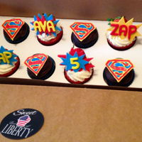 Superhero Cupcakes Cupcakes for a super girl!!