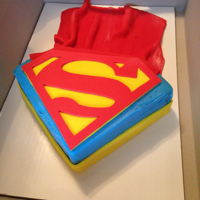 Superman Superman cake with cape.