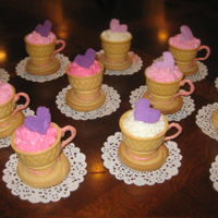 Teacups For A Birthday Party! Made these for my twin grand daughter's birthday!