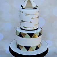 Teepee For Baby Teepee and arrow themed baby shower cake
