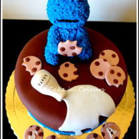 The Cookie Monster Cookie Monster made of gumpaste