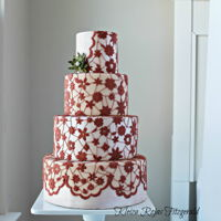 The Lace Dress I use a piece of lace to give texture to the fondant cut outs and then I joined the flowers with royal icing to each other. I thought the...
