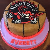 Toronto Raptors Buttercream Transfer of Raptor Logo