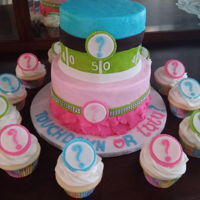 Touchdown Or Tutu? Gender reveal cake
